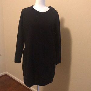 Athleta black sweater dress